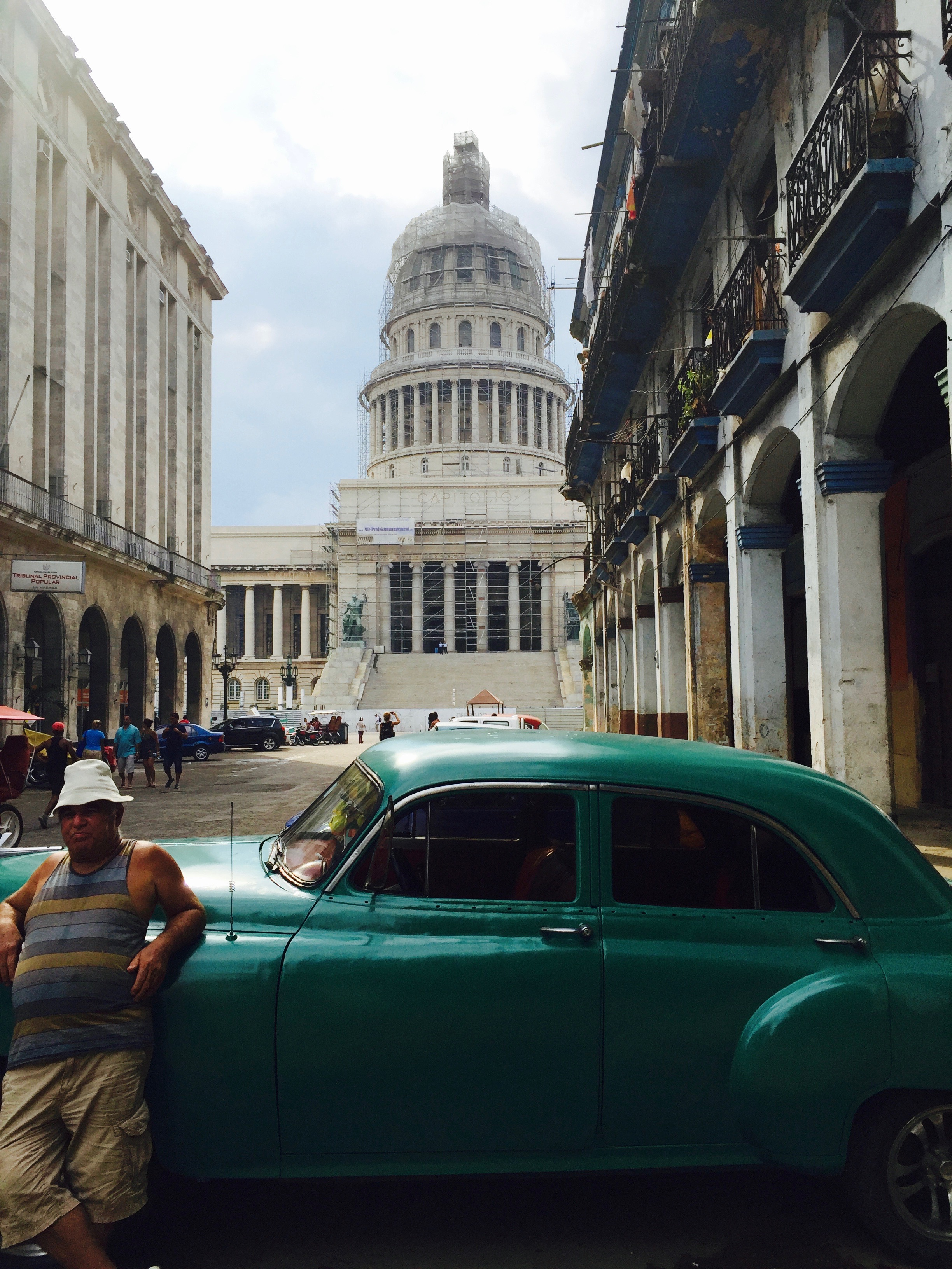 Views of El Capitolio. It once served as the seat of the government until the Cuban Revolution in 1959. It is now the new home to the Cuban Academy of Sciences.