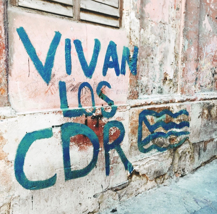 """The """"CDR"""" or Committees for the Defense of the Revolution are a network of neighborhood committees throughout Cuba. More commonly know as the """"eyes of the revolution,"""" they were put in place to prevent counter-revolutionary activities."""